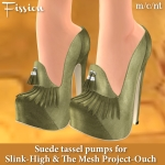 Fission-Suede tassel pumps AD